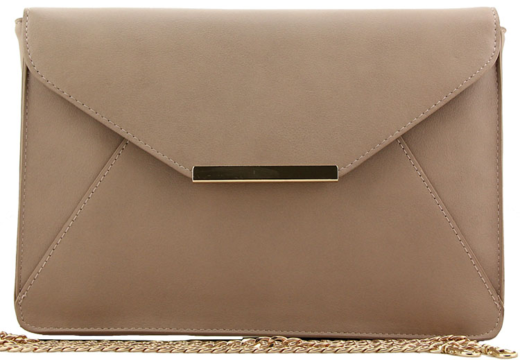 clutch chain bag nude