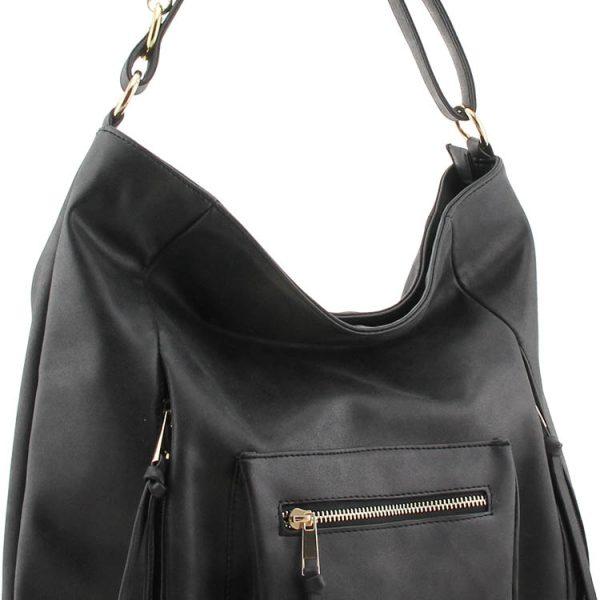 Ladies Fashion Designer Shoulder PU Leather Handbag – Taupe, Black, Grey