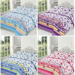 Printed Blossom Duvet Cover Set -AYZ- Single, Double, King, Super King with Pillow Cover