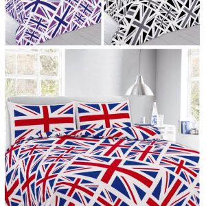 England Union Printed Duvet Cover and Pillow Cover Bedding Set -AYZ- Single, Double, King, Super King