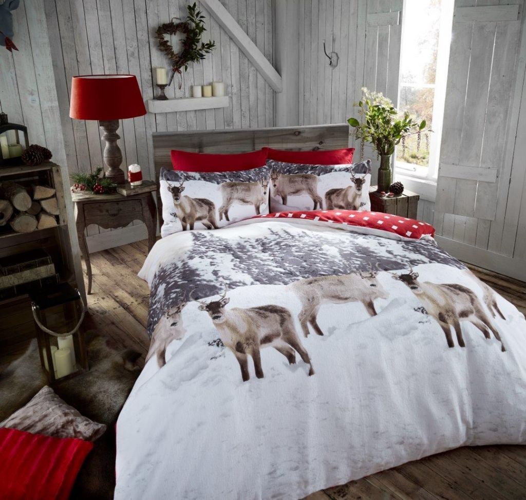 snow-reindeer-flannel-duvet-cover