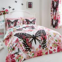 floral butterfly modern printed duvet cover