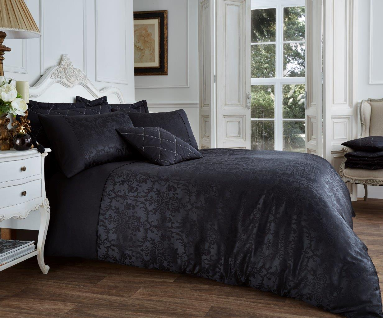 Vincenza Jacquard Luxurious Duvet Cover Set