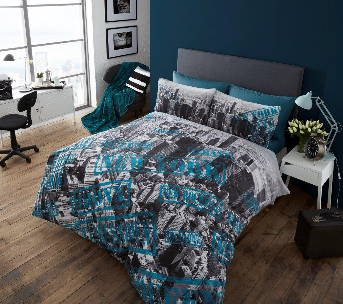 New York City Look Premium Duvet Cover Bedding Set