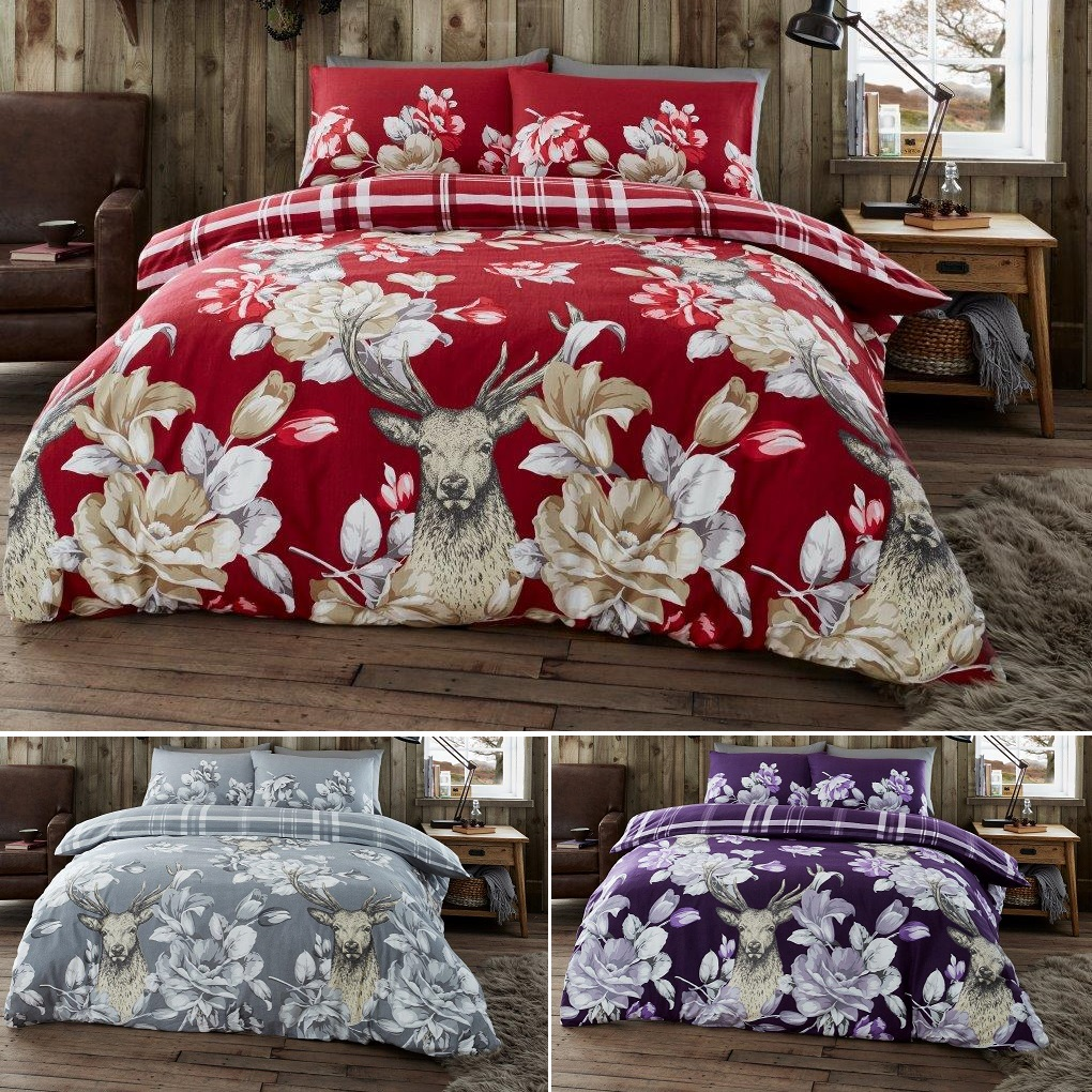 Flannelette Sheet Set Double King Size Brushed Cotton Fitted Flat Stags Bedding Home Garden Sheets Ayianapatriathlon Com