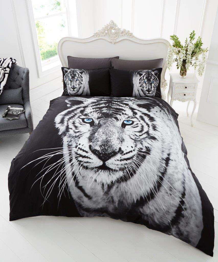 Animal White Tiger Premium Duvet Cover Bedding Set