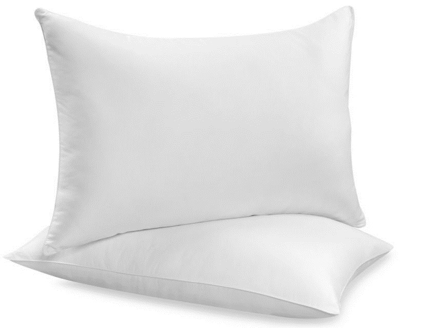 Duck feather and down pair pillows size 48 cm x 74 cm for Duck or goose feather pillows which is better