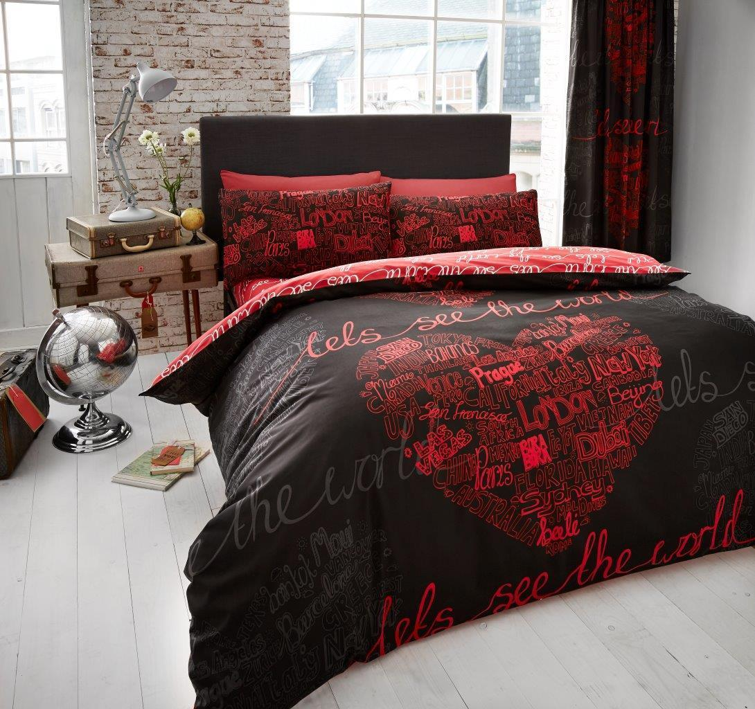 Red And Black Duvet Covers