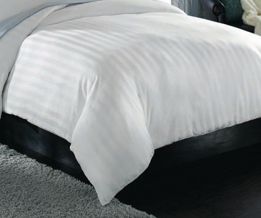 satin stripe flat bed sheet