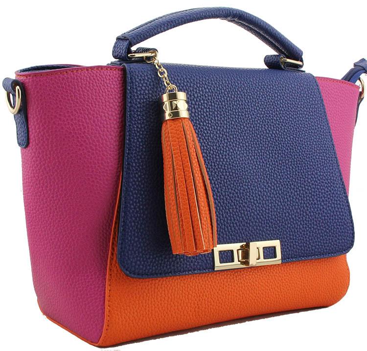 zelda fuchsia hand bag