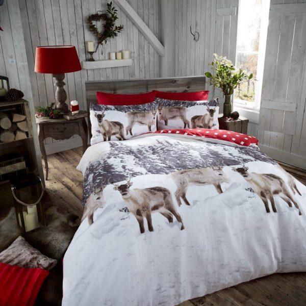 snow-reindeer-flannel-duvet-cover