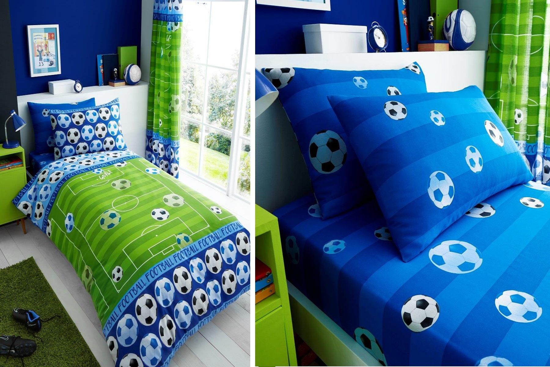 Football Soccer Goal Blue Children Teenage Kids Boys Girls