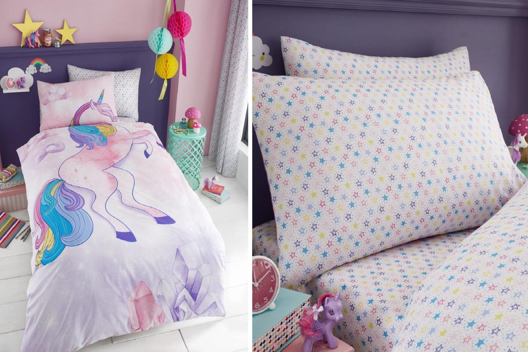 Unicorn Children Teenage Kids Girls Duvet Pillow Cover
